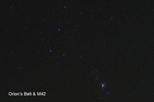 三つ星とM42